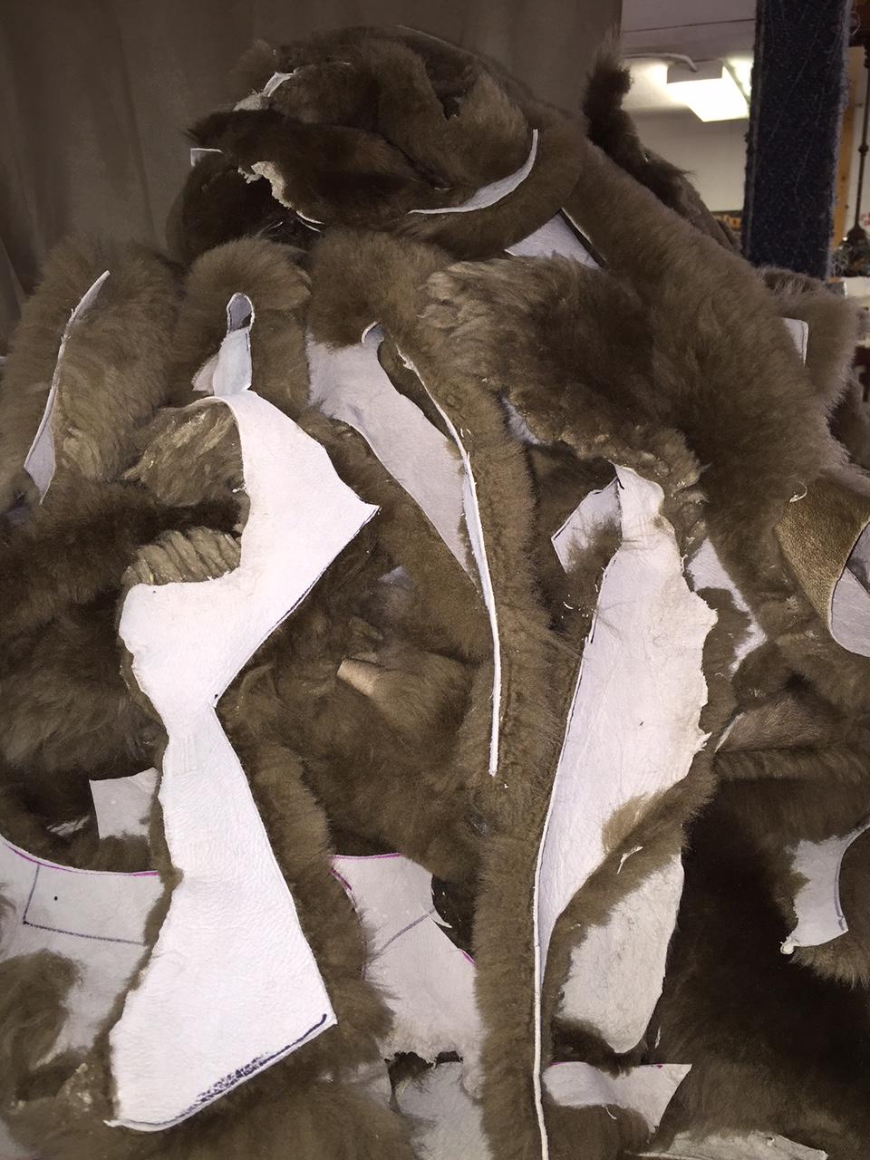 3 Pounds Brown Merino Sheepskin Large Craft Scraps Sew