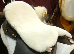 Longer English Dressage Merino Sheepskin Saddle Seat Cushion