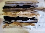 LONG STRIPS 1 Pound Long Sheepskin Hide Strips for DIY Dog Toys, Tug Toys, Crafting, Art
