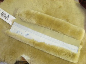 "Sheepskin Stirrup Strap Covers 12"" L to fit 2"" Wide Straps VELCRO style"
