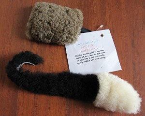 2 Real SHEEPSKIN CAT TOYS Organic CATNIP Mouse & Refillable HOBO Bag