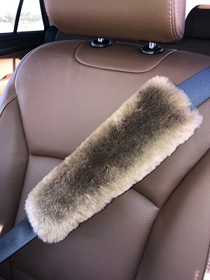 CUSTOM SIZE Strap Pad Merino Sheepskin Multi-use Strap Pad Cover CHOOSE YOUR LENGTH AND STRAP WIDTH