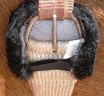 One Pair Merino Sheepskin Cinch Ring Buckle or Billet Pads Comfort for Horse Girths